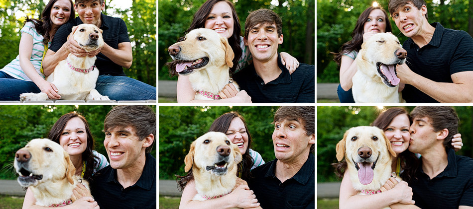memphis wedding photographer, amydale photography, engagement session with a dog